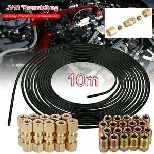 10m Bremsleitung Bremsrohr Stahl 4,75 Mm + 20*Verschraubungen + 10*Verbinder