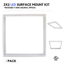 2X2 LED Surface Mount, Flange Kit, Aluminum, Fits LED Flat Panel Light Fixtures