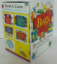 Lot of 5 David Carter Pop-Up Books BUGS Alpha, Bedtime, Birthday, Feely, Snow
