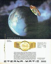 PUBLICITE ADVERTISING 037  1964  la montre Eterna-Matic 3000 dato