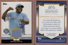 David Ortiz 2012 Topps MLB All-Star Game Workout Jersey Card #AS-DO