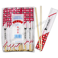 80 Paia cinesi Chopsticks in legno Bamboo per tutti gli alimenti asiatici GIAPPONESE THAI Corea