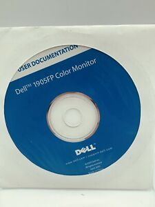 Dell 1905FP Color Monitor USER DOCUMENTATION April 2005 PC CD-ROM DISC MANUAL