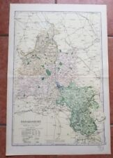 1900-1909 Date Range County Map Antique Europe Folding Maps
