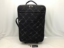 Auth CHANEL Nylon Old Travel line Carry Bag Suitcase 6i120080m