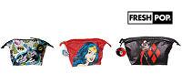 New Official*DC Comics* Wonder Woman Harley Quinn Batman Large Wash Make Up Bag