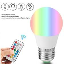 E27 Dimmable RGB LED light Color Changing Bulb Light with Remote Control 85-265V
