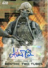 Star Wars Rogue One Series 2 Autograph Card Aidan Cook as Benthic Two Tubes