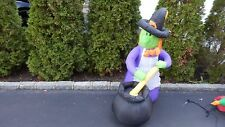 4Ft Airblown Inflatable LED Lighted Halloween Witch Figure Yard Prop Blow-up New