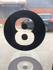 8 Ball Vinyl Stickers in Black - 10cm Diamiter - Ideal For  Walls, Windows, Cars