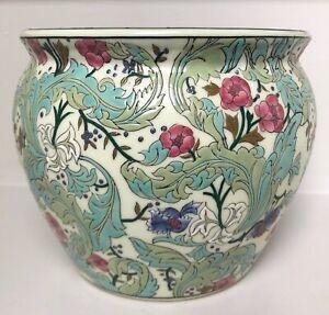 Vintage William Morris Style Design Cache Pot Planter Plant Pot Holder