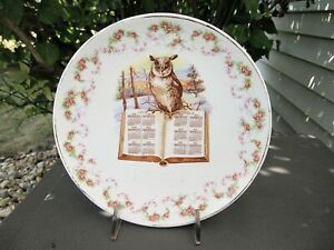 1912 W.S. George Advertising Plate Complements Of C.G. Beckman Cumberland MD Owl