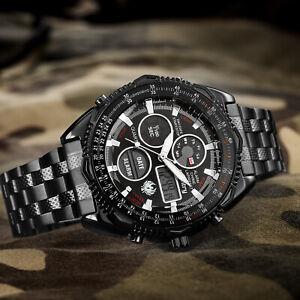 INFANTRY Mens Digital Analog Wrist Watch Stopwatch MIlitary Army Sport Black