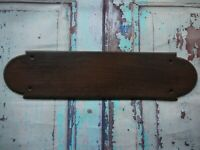 FP108 Reclaimed Salvaged Old Original Wooden Door Finger Plate (74 x 300mm)