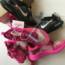 Los diez: Nike Zoom Fly X Virgil abloh Off Blanco Rosa * 100% Auténtico * 10 9 8 7