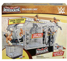 WWE WREKKIN COLLISION CAGE PLAYSET BREAKABLE STEEL CAGE & RING HELL IN A CELL