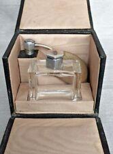 Rare Vintage Art Deco Perfume Atomiser Scent Bottle & Original Travel Case