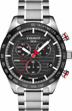 TISSOT MENS CHRONOGRAPH PRS516 WATCH T1004171105101 BLACK DIAL RRP £560.00
