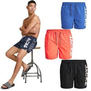 Jack & Jones Men's Swim-wear Shorts Casual Beach Summer Holiday Pool Quick-Dry