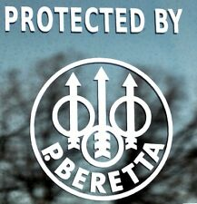 Protected by Beretta Decal  Support for the 2nd Amendment Made in the USA