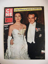 Ciné Revue N°17 Avril 1956 Mariage de Monaco Grace Kelly