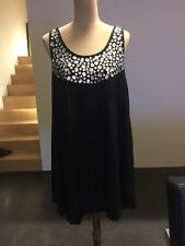 Maurie&Eve Loose Mini Dress With Front Jewels Black Size S/M