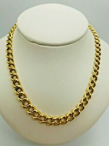 """18ct Yellow Solid Gold Albert Style T-Bar Chain – 17 ½"""""""