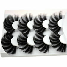4 Pairs 25mm 3D Natural Long Mink Hair Eyelashes Fluffy Full Wispy Lashes