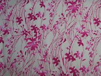 "SCION/HARLEQUIN CURTAIN FABRIC DESIGN ""Hana"" 2.6 METRES HOT PINK 100% COTTON"