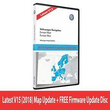 Nouveau VW Skoda Siège V15 RNS510 RNS810 2018 NAVIGATION MAP West Europe + mise à jour CD