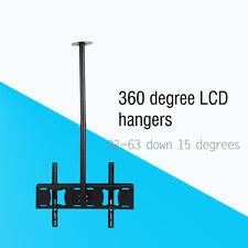 Ceiling Wall Mount Tilt Swivel TV LCD LED Bracket 32 40 42 46 50 52 55 60 63Inch