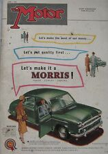 Motor magazine 1/6/1955 featuring Austin A50 road test, MG EX182 cutaway drawing