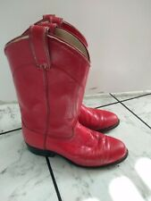 Vintage Laredo Red Womens Cowboy Boots Western 7