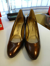 "CONNIE 3.5"" Heel Womens Shoes Size 9M Brown Bronze Patent NEW"
