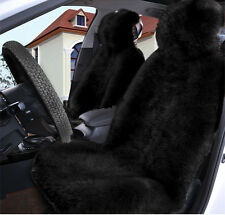 1pc Black Pelt Sheepskin Fur Car Seat Covers One Size Fit most (Universal Fit)