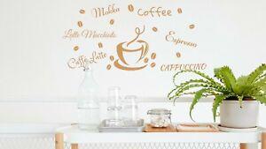 Kaffee Kaffeebohnen Tasse Wandtattoo Aufkleber Wandsticker Wandmotiv Küche