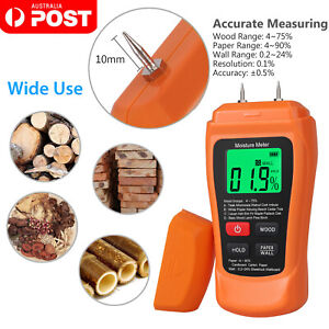 Digital LCD Wood Moisture Tester Damp Meter Detector Wood Humidity Caravan Pro