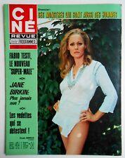 ►CINE REVUE 31/1973-URSULA ANDRESS-FABIO TESTI- JANE BIRKIN-IRENE DUNNE- BREL...