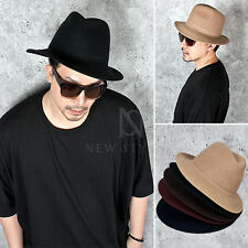 NewStylish unisex accessory hat Stylish plain mid brim felt fedora