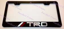 TRD LASER Style 4X4 Off Road Sports Stainless License Plate Frame W/ Bolt Caps