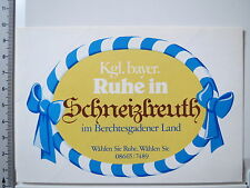 Aufkleber Sticker Schneizelreuth Berchtesgadener Land Bayern (3671)