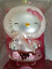 Hello Kitty 5-Inch Glass Ornament Pink Winter Parka & Seal - NEW! Pink 2007