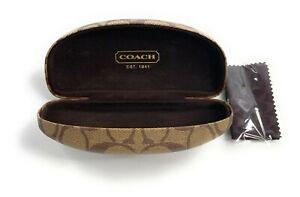 COACH Signature Eyewear Eyeglass Hard Clamshell Case for Eye/Sunglasses w/ cloth