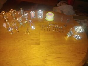 Barbie Silver SILVERWARE, Cake, Horse Trophies, brushes and other Accessories