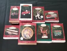 Hallmark Keepsake Collectible Ornaments, Lot of 8, from years 1996 & 1997