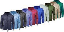 Brand New Unisex Kagoul Lightweight  Rain Coat Jacket Mac Kagool Cagoule S-XXL