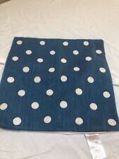 POTTERY BARN  Blue Square Polka Dot Pillow Covers 16""