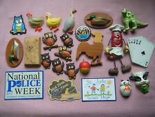 Assorted Selection Of Refrigerator Magnets, Ceramic, Plastic, Wood, Metal, etc.