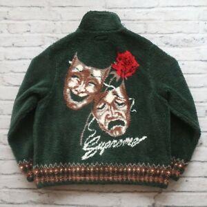 Supreme Drama Mask Fleece Jacket Mens Size M Green
