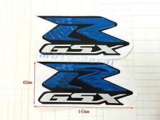 GSXR 600 1000 Raised 3D Chrome Blue Decal Emblem Fairing Sticker GSXR750 Bling